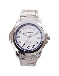 Turbo Youth Analogue White Dial Men's Watch - R115-001M