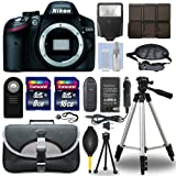 Nikon D3200 24.2 MP Digital SLR Camera Body + Deluxe Medium Camera and Video Bag + 50-Inch Photo Video Tripod + Flexible Tripod + Battery Charger for Nikon EN-EL14 + Lens Cap Keeper + Dust Blower + Cleaning kit + Screen Protectors + Transcend 24GB Top Accessory Bundle