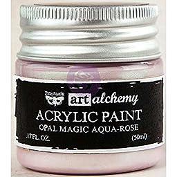 Prima Marketing 963613 Finnabair Art Alchemy Acrylic Paint, 1.7 fl. oz., Opal Magic Aqua/Rose