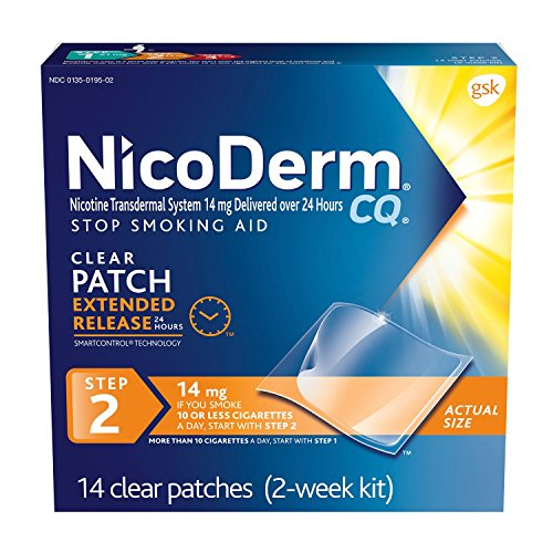 NicoDerm CQ Clear Nicotine Patch 14 mill