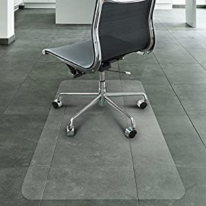 Office Marshal Eco-Series Chair Mat for Hard Floors, Translucent | 100% Recycled (PET), Environmentally Friendly | 3 Sizes