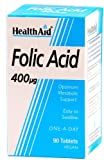 HealthAid Folic Acid 400g - 90 Tablets