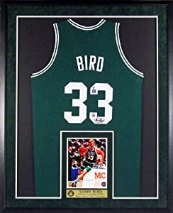 Larry Bird Autographed Boston Celtics Jersey with Inset Photo & Floating Plate... by Sports Gallery Authenticated