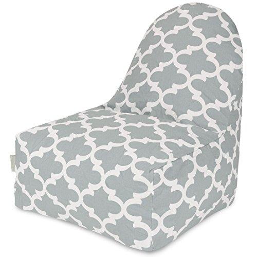 Majestic Home Goods Trellis Kick-It Chair, Gray front-983483