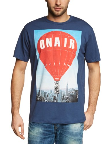 Bench Air Baloon Logo Men's T-Shirt Blue Small