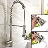 Ufaucet Best Single Handle Brushed Nickel Pull Out High Arch...