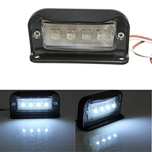 AUDEW-4-LED-Kennzeichenbeleuchtung-Nummernschildbeleuchtung-Motorrad-Kennzeichen-Licht-LKW-Anhnger-Wasserdicht