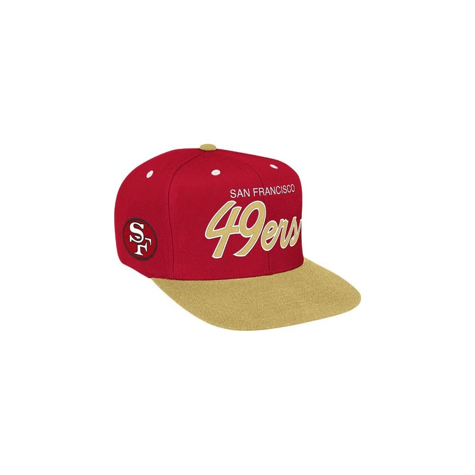 Mitchell & Ness San Francisco 49Ers 2 Tone Script Snapback Hat Adjustable