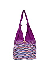 Womaniya Canvas Purple Handbag For Women(Size-32 Cm X 32 Cm X 10 Cm) - B00SJ1ISAG