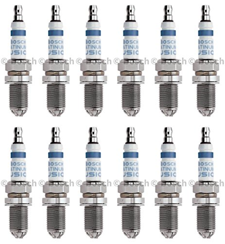 New Spark Plug (Set of 12) BOSCH # 4503 Fusion Platinum Plus Iridium