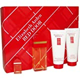 Red Door Eau-de-toilette Body Lotion Bath And Shower Gel And Mini Parfum Splash Women By Elizabeth Arden