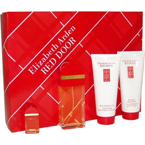 red door eau de toilette body lotion bath and shower gel and mini parfum splash women by. Black Bedroom Furniture Sets. Home Design Ideas