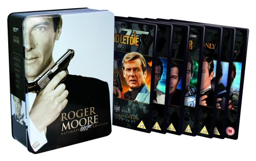 Roger Moore Bond Collection - Live And Let Die/The Man With The Golden Gun/The Spy Who Loved Me/Moonraker/For Your Eyes Only/A View To A Kill/Octopussy (Special Collector's Edition Tin) [DVD]