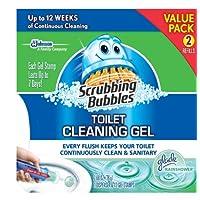 Scrubbing Bubbles Toilet Gel Rain Shower, 1 Dispenser and 12 Gel Stamps