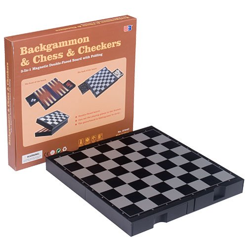 51G%2BOmz5leL Cheap  2 in 1 Travel Magnetic Chess & checkers and Backgammon set