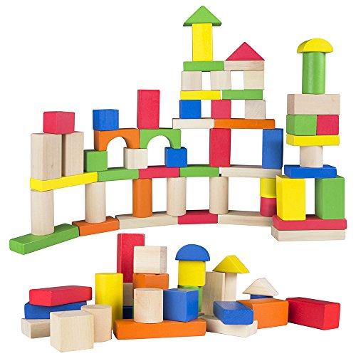 Color Baby - Juego de 100 bloques de madera (40993)