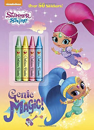 Genie Magic! Coloring Book with Crayons