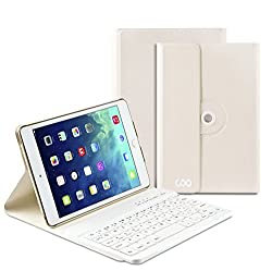 Coo iPad Mini 4 Bluetooth Keyboard Cases with 360 Degree Rotation and Multi-angel Stand