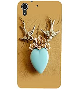 PrintDhaba Heart D-2264 Back Case Cover for HTC DESIRE 728 (Multi-Coloured)