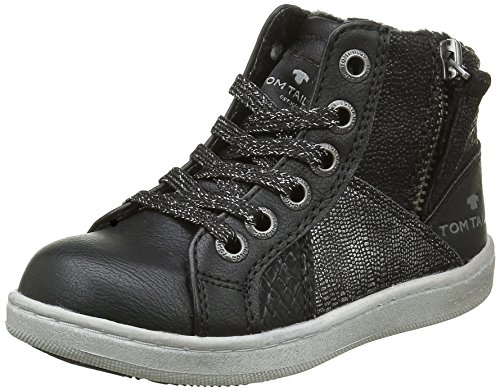 Tom Tailor1672703 - Sneakers imbottite Bambina , Nero (Black (nero)), 26