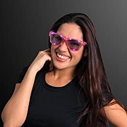 Pink Cool Shades Light Up Led Sunglasses