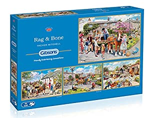 Gibsons Rag and Bone Jigsaw Puzzles (4 x 500 Pieces)