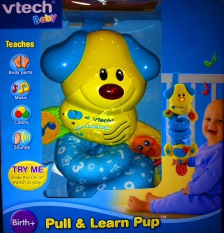 Vtech Baby Pull & Learn Pup Crib Toy - 1