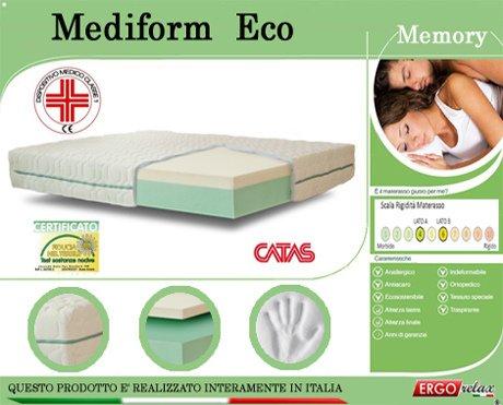 Materasso Memory Mod. Mediform Eco Presidio Medico Altezza Cm. 22 - Ergorelax - singolo - 80 cm x 190 cm