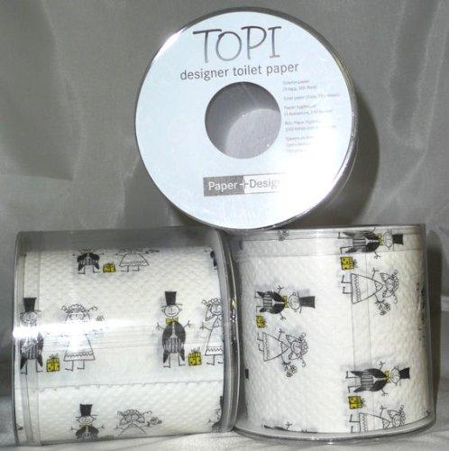 1 st ck lollipop 39 just married 39 toilettenpapier rolle 3. Black Bedroom Furniture Sets. Home Design Ideas