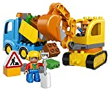 LEGO-DUPLO-Town-10812-Truck-Tracked-Excavator-Building-Kit-26-Piece