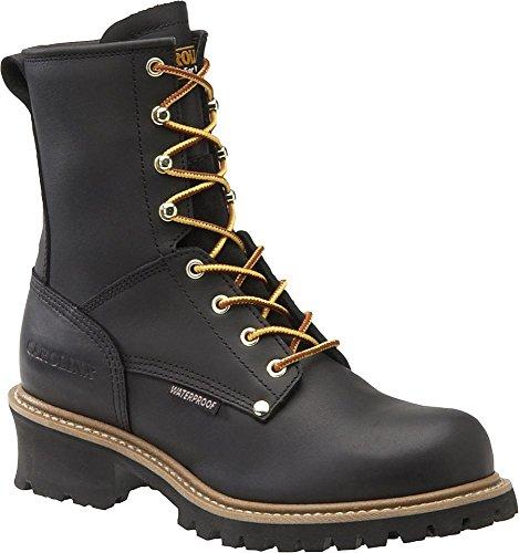 Carolina Steel-Toe Waterproof Logger Boot - 8In., Size 8, Black, Model# Ca9823