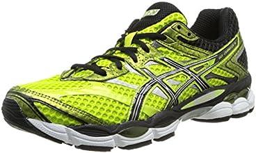 Asics Gel Cumulus 16 - Zapatillas de running para hombre, color amarillo / negro / plata / blanco, talla 44.5