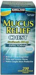 Kirkland Signature Mucus Relief Chest Guaifenesin 400 mg Expectorant - 200 Im...