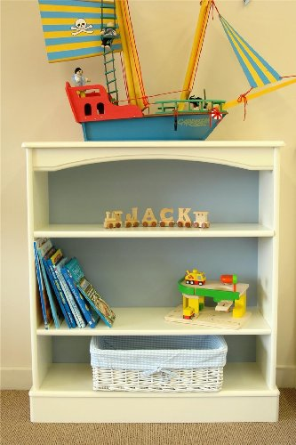 Nova childrens pine furniture bookcase shelf tall wide