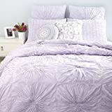 Sky Circlet 3 Piece Full/queen Comforter Cover Set Lavander