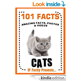 101 Facts... Cats! Cat Books for Kids  - Amazing Facts, Photos & Video Links. (101 Animal Facts Book 2)