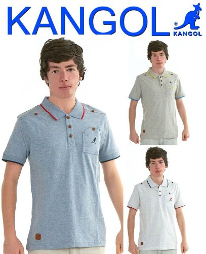 Mens Boys Kangol Cotton Polo TShirt Half Sleeve Casual and Party Wear