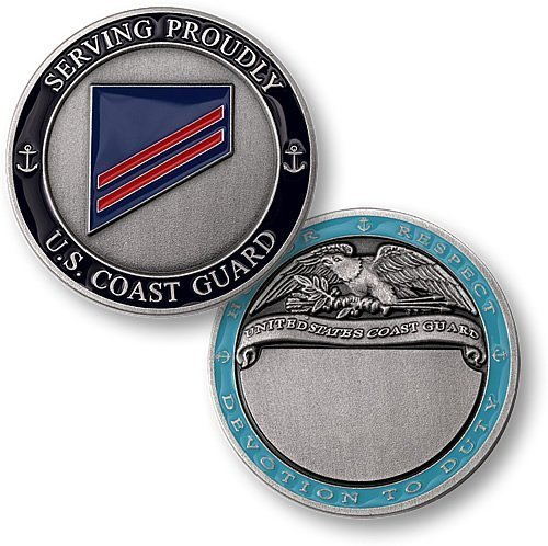 Coast Guard E2 Fireman Apprentice Engravable Challenge Coin