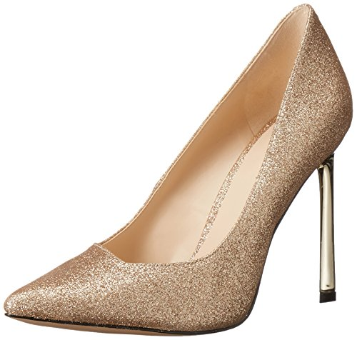 Nine West Women's Kaylee Sparkle Dress Pump, Light Gold, 12 M US