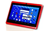 "DeerBrook® 7"" Android 4.4 KitKat Tablet PC, Dual Core 1.5GHz A23 Processor, 512MB / 4GB, Dual Camera, Bluetooth, G-Sensor (Red)"