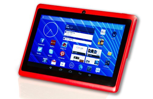 DeerBrook® 7 Android 4.4 KitKat Tablet PC, Dual Core 1.5GHz A23 Processor, 512MB / 4GB, Dual Camera, Bluetooth, G-Sensor (Red)
