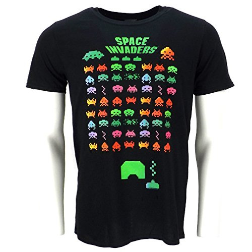 Space Invaders Classic Retro Graphic Game T-shirt Official Licensed
