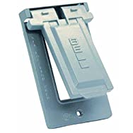 Hubbell 5983-0 Do it Weatherproof Electrical Cover-GRAY OUTDOOR GFI COVER