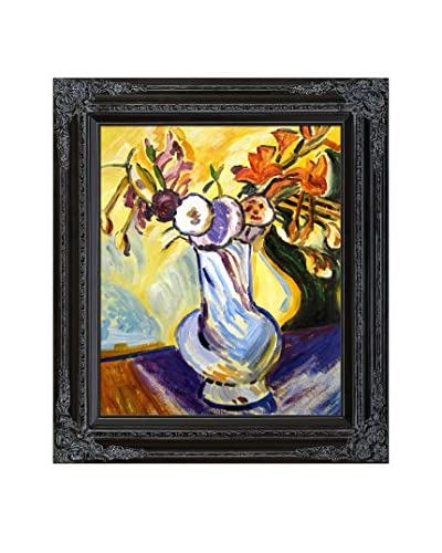 "Alfred Henry Maurer ""Flowers In A White Vase"" Framed Hand-Painted Oil Reproduction"