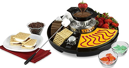 KOVOT 3-in-1 Treat Maker S'mores/Fondue & Gummies Station, Black