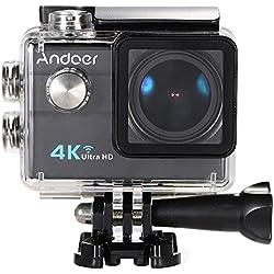"Andoer® Ultra HD Cámara Acción Deporte 2.0 ""LCD 16MP 4K 25FPS 1080P 60 FPS 4X zoom Wi-Fi 25mm 173 grados de amplio-Lens 30M Impermeable"