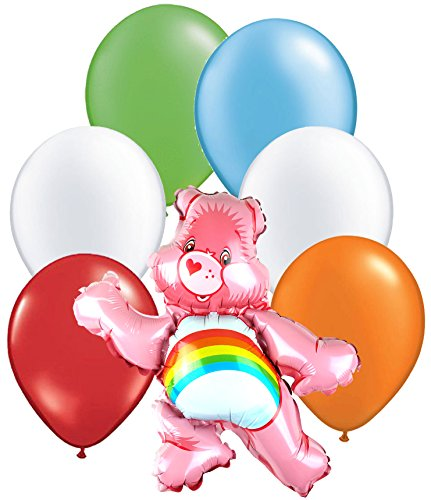 Care Bears Latex and Foil Balloon Bouquet (7 Pcs) (Care Bears Invitations compare prices)