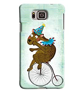 Blue Throat Animal On Bicycle Printed Designer Back Cover/ Case For Samsung Galaxy Alpha