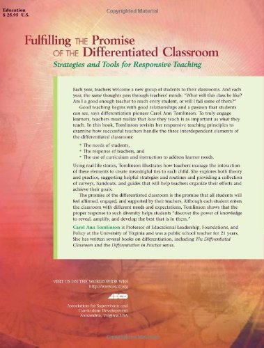 Fulfilling the Promise of the Differentiated Classroom: Strategies and Tools for Responsive Teaching