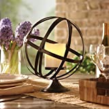 Metal Orbit Candle Holder Great for Tables, Shelves, Patios. This Captivating Holder Complements Any Home Decor.